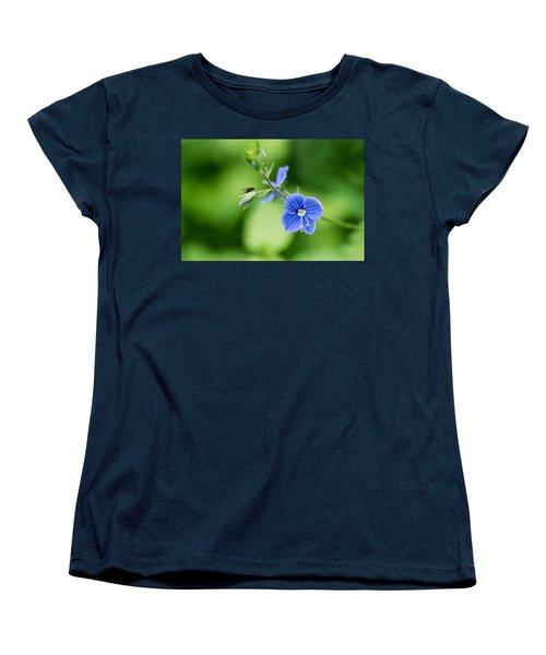 A Flower And A Fly - Featured 3 Women's T-Shirt (Standard Cut) by Alexander Senin