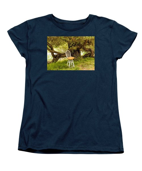 A Little Solitude Women's T-Shirt (Standard Cut) by Kate Brown