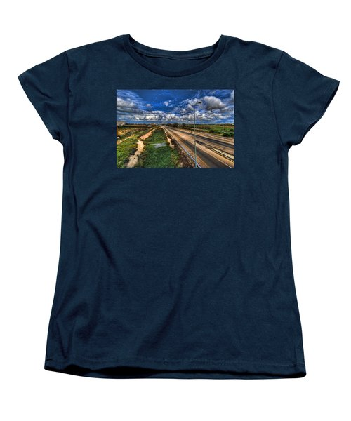 Women's T-Shirt (Standard Cut) featuring the photograph a majestic springtime in Israel by Ron Shoshani