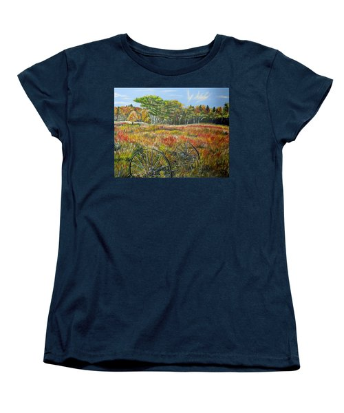 Women's T-Shirt (Standard Cut) featuring the painting A Prairie Treasure by Marilyn  McNish