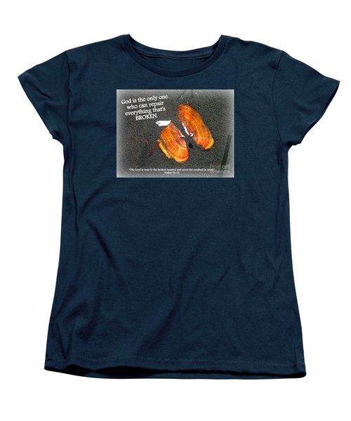 A Psalm For The Brokenhearted Women's T-Shirt (Standard Cut) by Kathy  White