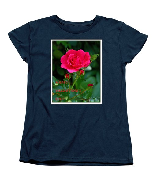 A Rose For Valentine's Day Women's T-Shirt (Standard Cut) by Mariarosa Rockefeller