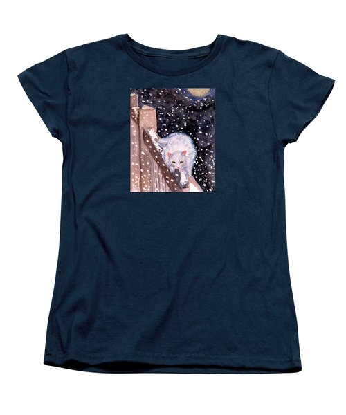 Women's T-Shirt (Standard Cut) featuring the painting A Silent Journey by Angela Davies