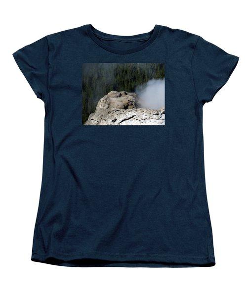 A Smoking Man. Yellowstone Hot Springs Women's T-Shirt (Standard Cut) by Ausra Huntington nee Paulauskaite