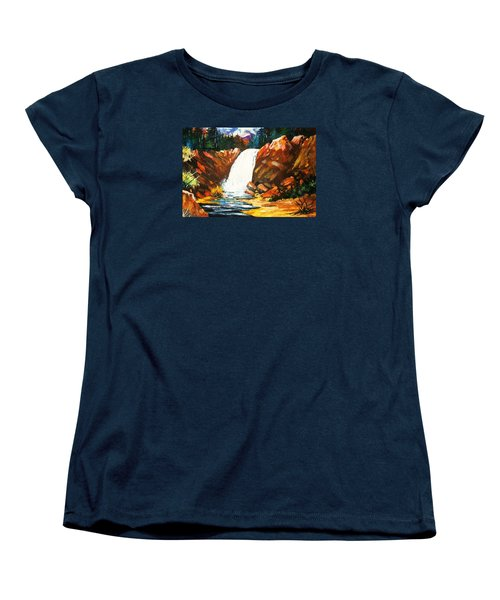 Women's T-Shirt (Standard Cut) featuring the painting A Spout In The Forest by Al Brown