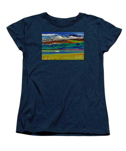 Women's T-Shirt (Standard Cut) featuring the photograph A Surreal Ride by Susan Wiedmann