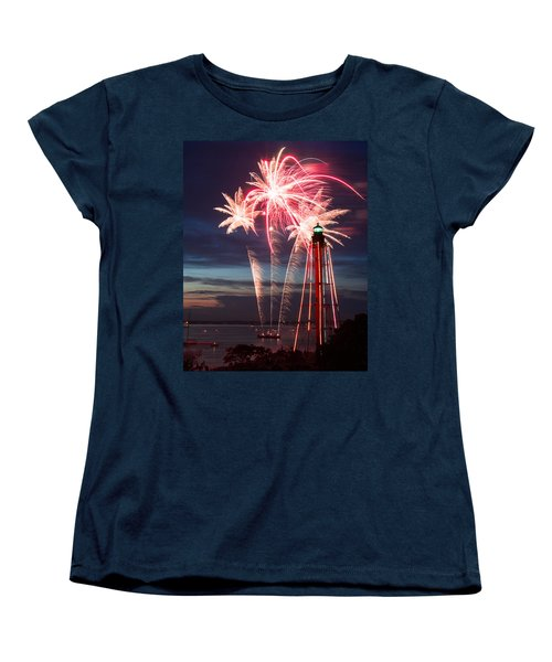 A Three Burst Salvo Of Fire For The Fourth Of July Women's T-Shirt (Standard Cut) by Jeff Folger
