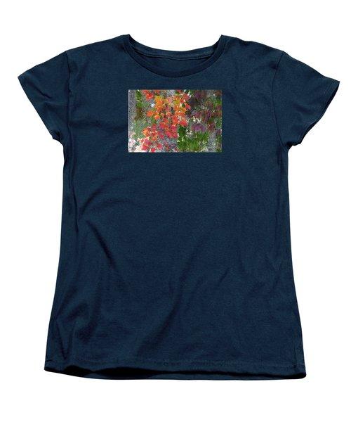 Women's T-Shirt (Standard Cut) featuring the digital art A Touch Of Autumn by Mariarosa Rockefeller