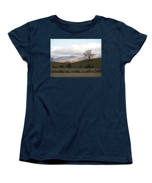 Women's T-Shirt (Standard Cut) featuring the photograph A Walk In The Countryside In Lake District England by Tiffany Erdman