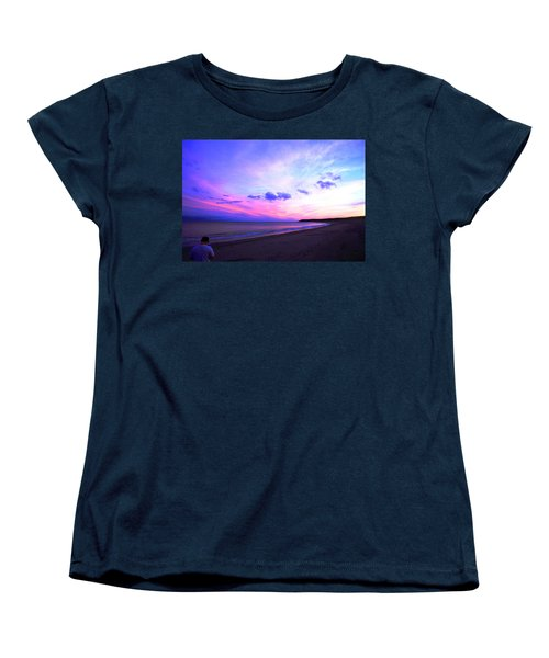 A Walk On The Beach Women's T-Shirt (Standard Cut) by Jason Lees