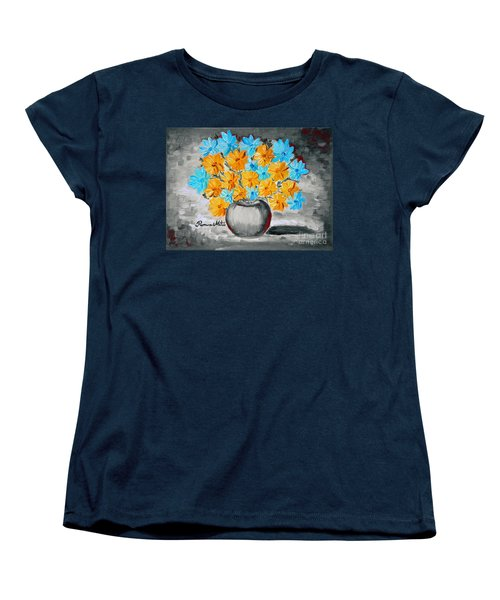 A Whole Bunch Of Daisies Selective Color II Women's T-Shirt (Standard Cut) by Ramona Matei