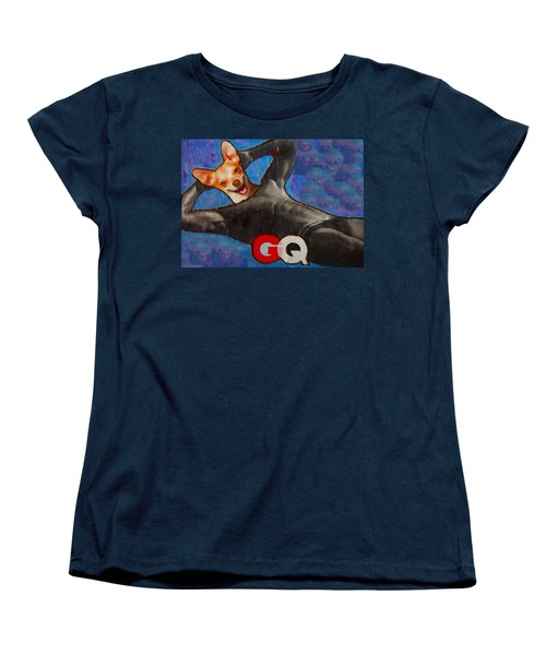 Women's T-Shirt (Standard Cut) featuring the painting A Woman's Best Friend  by Lisa Piper