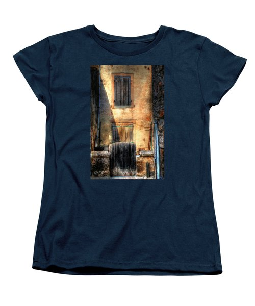 Women's T-Shirt (Standard Cut) featuring the photograph A Yard In France by Tom Prendergast