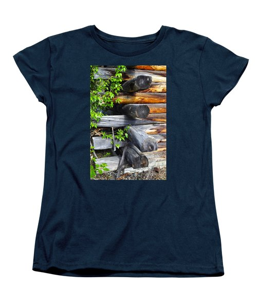 Women's T-Shirt (Standard Cut) featuring the photograph Abandoned  by Cathy Mahnke