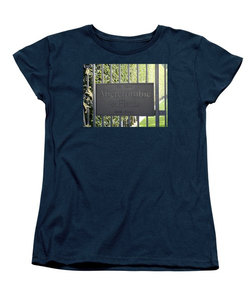 Abercrombie And Fitch Store In Paris France Women's T-Shirt (Standard Cut) by Richard Rosenshein