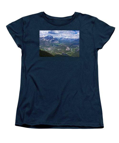 Above Banff Women's T-Shirt (Standard Cut) by Stuart Litoff