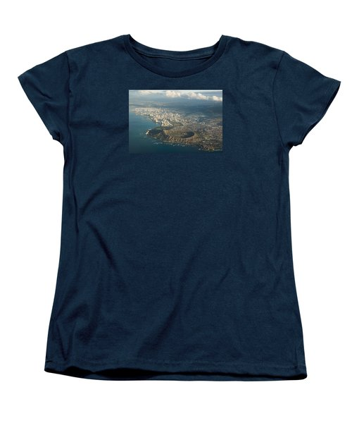 Women's T-Shirt (Standard Cut) featuring the photograph Above Hawaii by Georgia Mizuleva