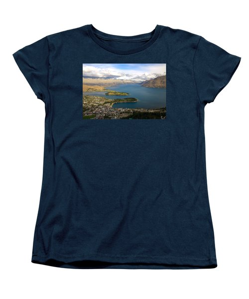 Above Queenstown Women's T-Shirt (Standard Cut) by Stuart Litoff