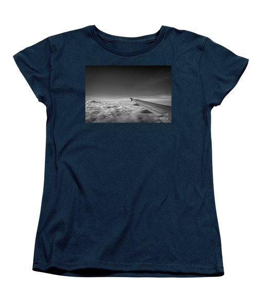 Above The Clouds Bw Women's T-Shirt (Standard Cut) by Michael Ver Sprill
