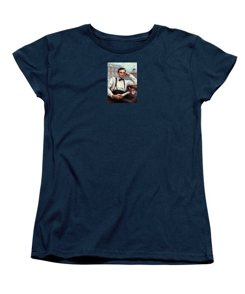 Abraham Lincoln Of Springfield Bicentennial Portrait Women's T-Shirt (Standard Cut) by Jane Bucci