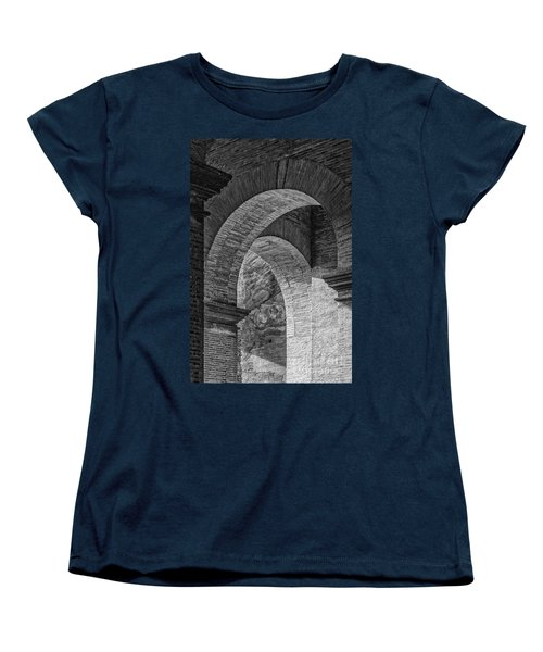Abstract Arches Colosseum Mono Women's T-Shirt (Standard Cut) by Antony McAulay