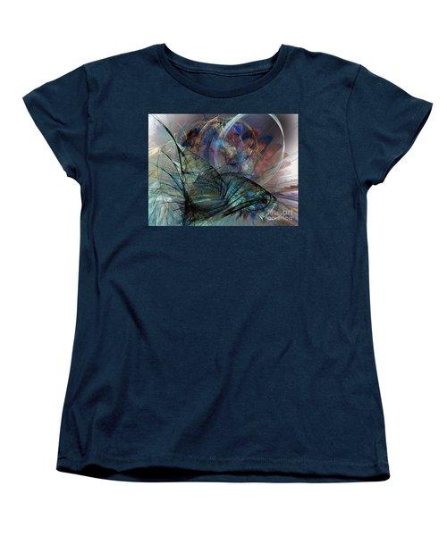 Abstract Art Print In The Mood Women's T-Shirt (Standard Cut) by Karin Kuhlmann