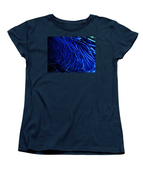 Abstract Experimental Chemiluminescent Photography Blue 1 Women's T-Shirt (Standard Cut) by David Mckinney