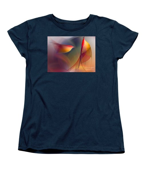 Abstract Fine Art Print Early In The Morning Women's T-Shirt (Standard Cut) by Karin Kuhlmann
