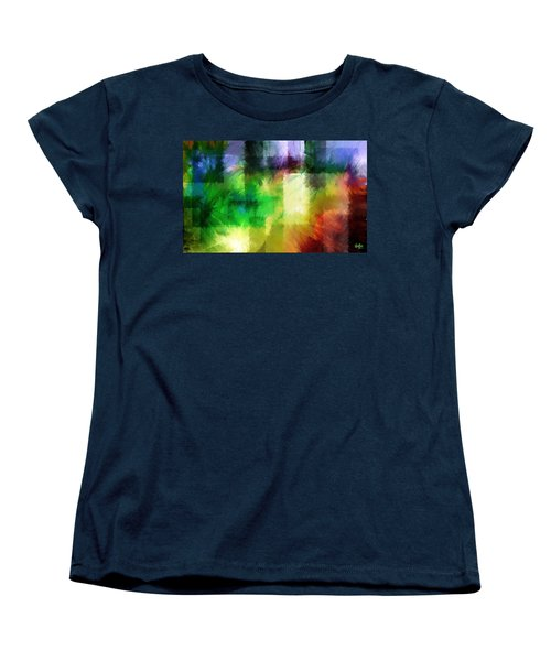 Women's T-Shirt (Standard Cut) featuring the painting Abstract In Primary by Curtiss Shaffer