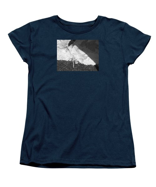 Women's T-Shirt (Standard Cut) featuring the photograph Abstract Of Rock And Shadow by Esther Newman-Cohen