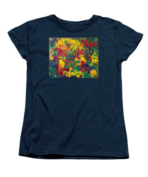 Abstract Painting - Color Explosion Women's T-Shirt (Standard Cut) by Enzie Shahmiri