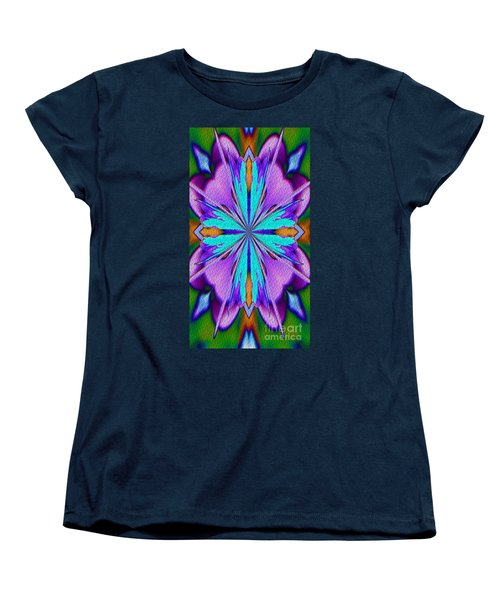 Abstract Purple Aqua And Green Women's T-Shirt (Standard Cut) by Smilin Eyes  Treasures