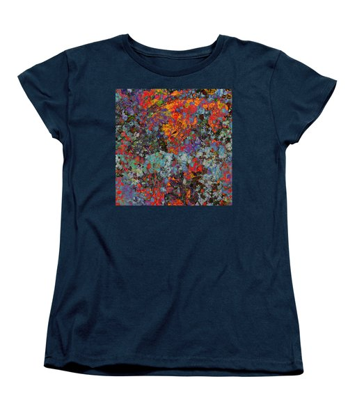 Women's T-Shirt (Standard Cut) featuring the mixed media Abstract Spring by Ally  White