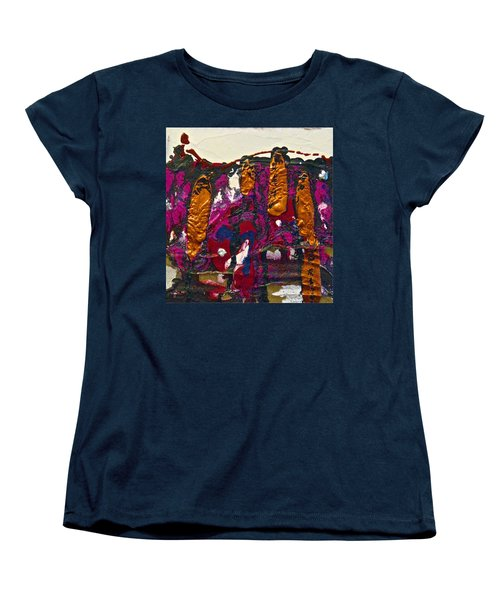 Abstracts 14 - The Deep Dark Woods Women's T-Shirt (Standard Cut) by Mario Perron