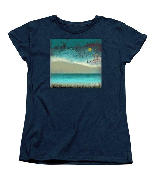 Acropolis In Moonlight Women's T-Shirt (Standard Cut) by Carol Jacobs