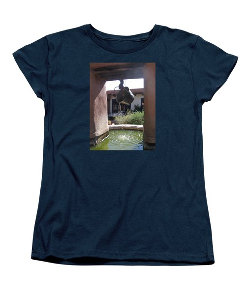 Women's T-Shirt (Standard Cut) featuring the photograph Adobe Water Well In New Mexico by Dora Sofia Caputo Photographic Art and Design