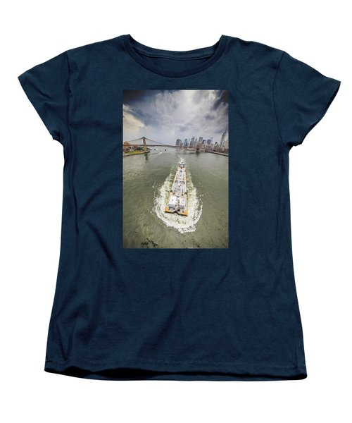 Aerial View - The Barge At The East River Women's T-Shirt (Standard Cut)