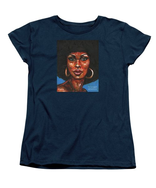 Women's T-Shirt (Standard Cut) featuring the painting Well Hello by Alga Washington