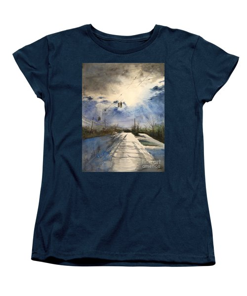 After Rain -on The Michigan Ave. Saline Michigan Women's T-Shirt (Standard Cut) by Yoshiko Mishina
