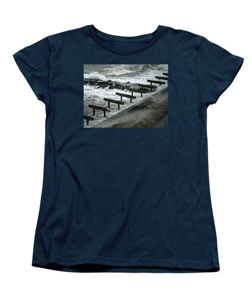Women's T-Shirt (Standard Cut) featuring the photograph After Storm Sandy by Joan Reese