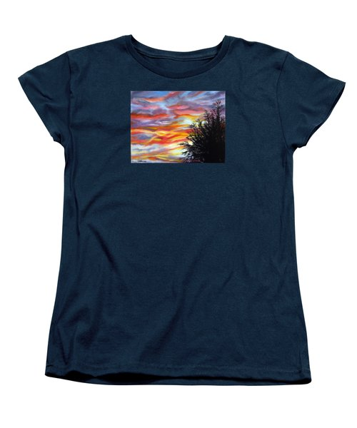 Women's T-Shirt (Standard Cut) featuring the painting After The Storm by LaVonne Hand