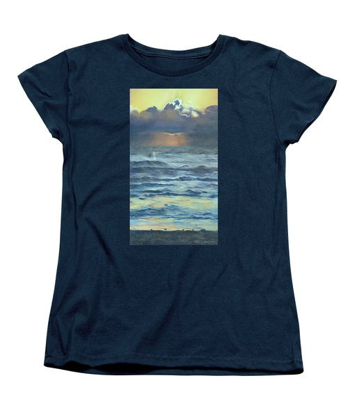 Women's T-Shirt (Standard Cut) featuring the painting After The Storm by Lori Brackett