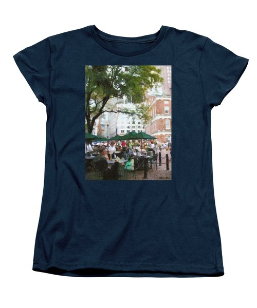Afternoon At Faneuil Hall Women's T-Shirt (Standard Cut) by Jeff Kolker