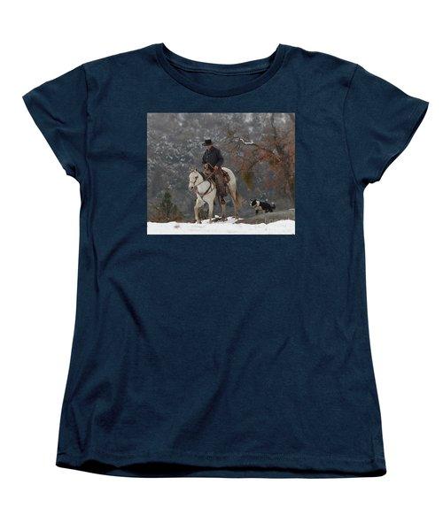 Ahwahnee Cowboy Women's T-Shirt (Standard Cut) by Diane Bohna