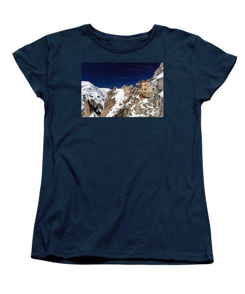 Women's T-Shirt (Standard Cut) featuring the photograph Aiguille Du Midi -  Mont Blanc Massif by Antonio Scarpi