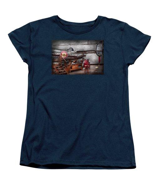 Airplane - The Repair Hanger  Women's T-Shirt (Standard Cut) by Mike Savad