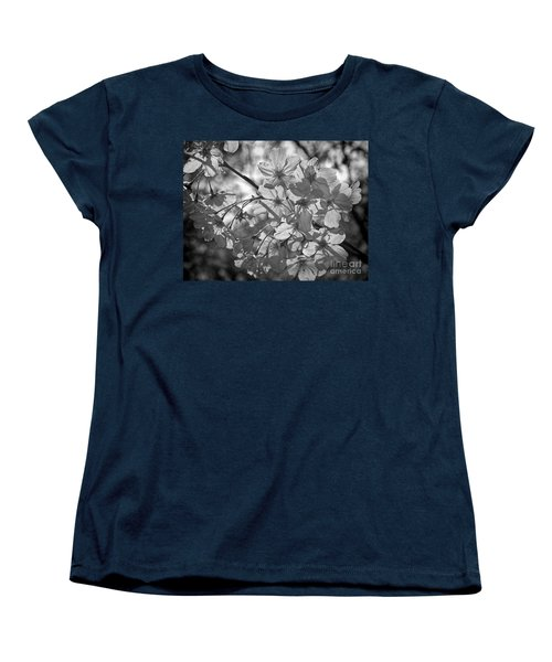 Akebono In Monochrome Women's T-Shirt (Standard Cut) by Peggy Hughes
