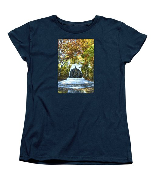 Alabama Monument At Gettysburg Women's T-Shirt (Standard Cut) by Paul W Faust -  Impressions of Light