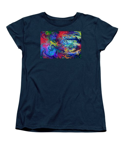 Women's T-Shirt (Standard Cut) featuring the digital art Aladdin's Lamp by Peggy Collins