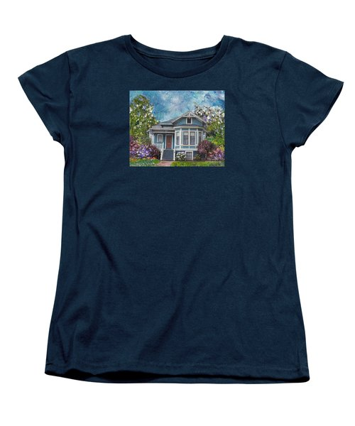 Alameda 1884 - Eastlake Cottage Women's T-Shirt (Standard Cut) by Linda Weinstock